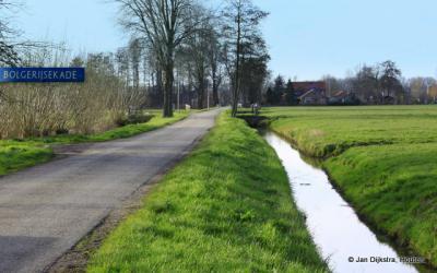 Bolgerijen, de Bolgerijsekade NO van de A2 gezien vanaf de Graaf Huibertlaan te Everdingen