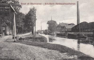 Een ansichtkaart van de buurtschap Bonnermond bij Stadskanaal, ca. 1910, waarover heel veel te vertellen valt. Zie het kopje Geschiedenis.