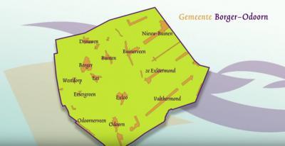Kaart van de gemeente Borger-Odoorn (© gemeente Borger-Odoorn)