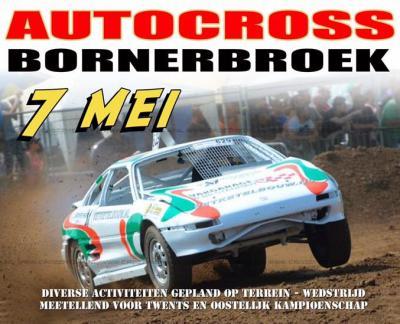 Een van de andere jaarlijkse succesnummers in Bornerbroek is de Autocross. Voor de datum van de eerstvolgende keer zie de link onder Jaarlijkse evenementen.