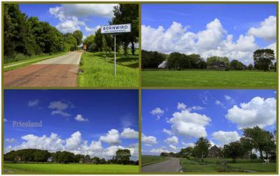 Bornwird, collage van dorpsgezichten (© Jan Dijkstra, Houten)