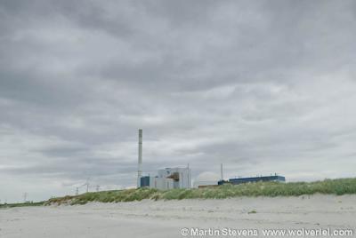 Borssele, natuurgebied De Kaloot ligt vlak naast de kerncentrale.