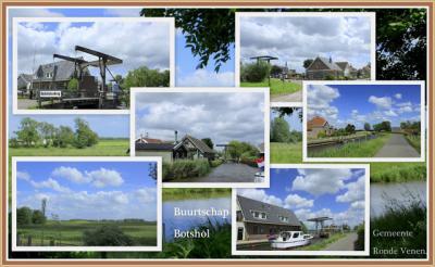 Botshol, collage van buurtschapsgezichten (© Jan Dijkstra, Houten)