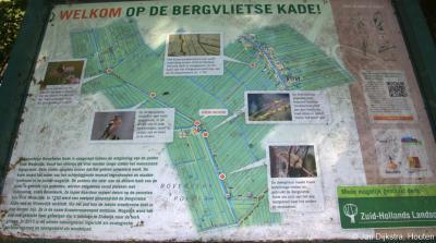 Als je van wandelen en natuur houdt, is de Bergvlietsekade zeer aan te beleven. Je kunt hem vanuit het O uiteinde van buurtschap Bovenkerk bewandelen naar het N richting Haastrecht of naar het Z richting Vlist.