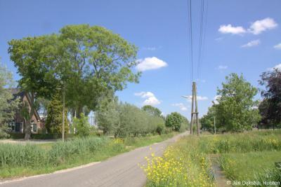 In buurtschap Bovenkerk zien we, net als in de N buur-buurtschap Bilwijk, nog houten elektriciteitspalen met leidingen boven de grond. Die zie je niet veel meer in ons land.