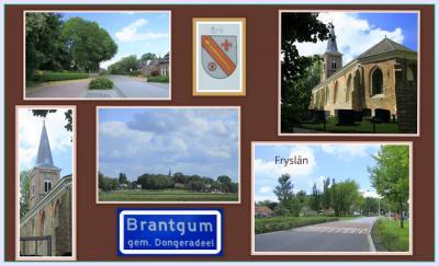 Brantgum, collage van dorpsgezichten (© Jan Dijkstra, Houten)