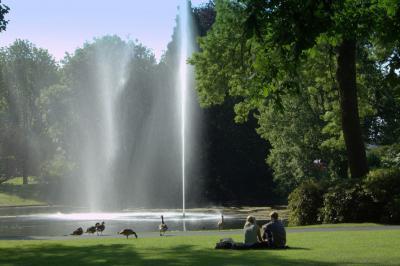 Breda, even lekker uitrusten in Park Valkenberg (© Jan Dijkstra, Houten)