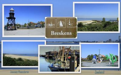 Breskens, collage van dorpsgezichten (© Jan Dijkstra, Houten)
