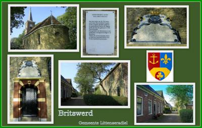 Britswert, collage van dorpsgezichten (© Jan Dijkstra, Houten)