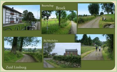 Broek, collage van buurtschapsgezichten (© Jan Dijkstra, Houten)