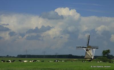 Het landschap bij Broeksterwâld.
