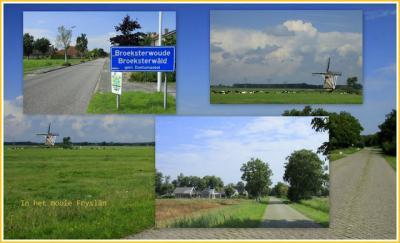 Broeksterwâld, collage van dorpsgezichten (© Jan Dijkstra, Houten)