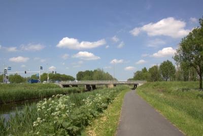 Giessenburg, de brug over de Smoutjesvliet in de Provincialeweg dichtbij de Slingelandse Plassen
