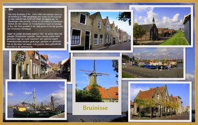 Bruinisse, collage van dorpsgezichten (© Jan Dijkstra, Houten)