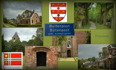 Buitenpost, collage van dorpsgezichten (© Jan Dijkstra, Houten)