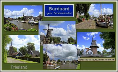 Burdaard, collage van dorpsgezichten (© Jan Dijkstra, Houten)