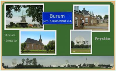 Burum, collage van dorpsgezichten (© Jan Dijkstra, Houten)