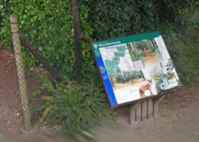 Bosgebied de Buunderkamp wordt beheerd door Staatsbosbeheer. Op een informatiepaneel bij hotel De Buunderkamp kunnen fietsers en wandelaars die dit bos willen gaan verkennen, lezen wat er zo bijzonder is aan dit gebied. (© Google StreetView)