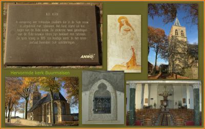 Buurmalsen, collage exterieur en interieur Hervormde kerk (© Jan Dijkstra, Houten)