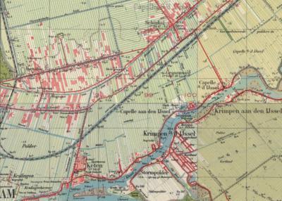 Tot in de jaren vijftig blijft Capelle aan den IJssel een landelijk gelegen gemeente, met de dorpjes Capelle, gelegen in het ZO aan de rivier, Keten in het ZW en Schinkel in het N. Nadien groeit in slechts enkele decennia tijd alles aan elkaar.