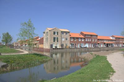 De mooie, in Romeinse stijl gebouwde wijk Castellum in Houten