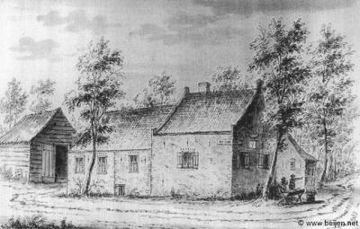 Vóór Cattenbroek in 1812 bij de gemeente Linschoten werd gevoegd, was het een 'gerecht'. Herberg De Lindeboom, hier afgebeeld op een tekening uit 1729, was tevens in gebruik als rechthuis van de polder Cattenbroek. (collectie www.beijen.net)