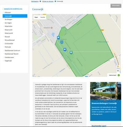 Kaart en beschrijving van de wijk Cereswijk op de site van de gemeente Stadskanaal. Binnen de wijk Cereswijk ligt de buurt Ceresdorp. Direct NW ligt het bedrijventerrein Dideldom, dat (soms) ook tot het gebied Cereswijk wordt gerekend.