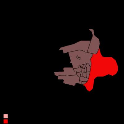 Hier in donkerrood is de ligging van de 'CBS-buurt' Cortenoever goed te zien als 'bijna-schiereiland' voor 3/4 omgeven door het water van de IJssel.