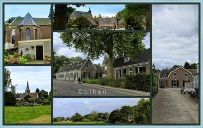 Cothen, collage van dorpsgezichten (© Jan Dijkstra, Houten)