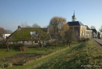 Het kerkje van Dalem, uit het westen gezien