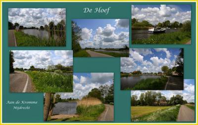 En ook het dorpje De Hoef heeft zo veel mooie landschappen dat je er blijft fotograferen en dus makkelijk twee collages kunt maken van dorpsgezichten. (© Jan Dijkstra, Houten)