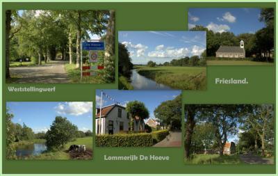 De Hoeve, collage van dorpsgezichten (© Jan Dijkstra, Houten)