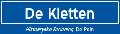 Histoaryske Feriening De Pein heeft op haar site een virtueel plaatsnaambord voor buurtschap De Kletten gefabriceerd. Nu nog een echte! (hint...)