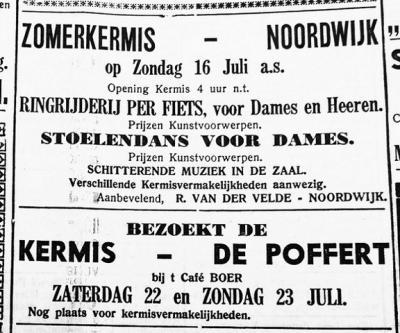 De ieniemienie buurtschap De Poffert had zelfs een kermis. Dat kwam vast omdat er veel passanten langs kwamen door de strategische ligging op een driesprong van doorgaand water- en wegverkeer.