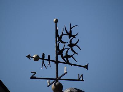 De Pol, fraaie windwijzer met zwaluwen (© Harry Perton / https://groninganus.wordpress.com)