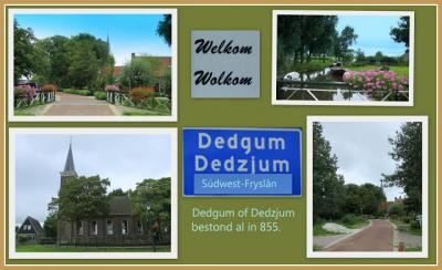 Dedgum, collage van dorpsgezichten (© Jan Dijkstra, Houten)