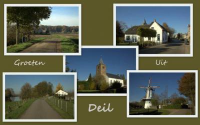 Deil, collage dorpsgezichten (© Jan Dijkstra, Houten)