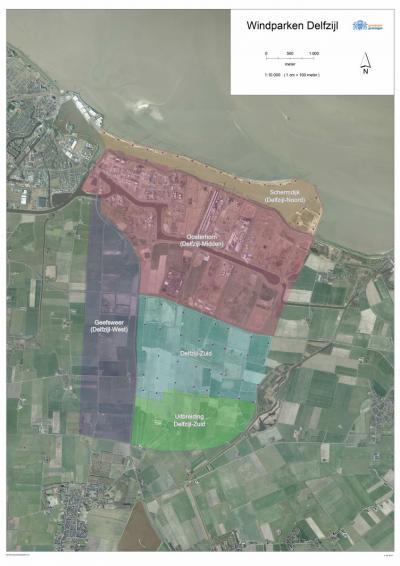 Naast megastallen kennen we tegenwoordig ook megawindparken. ZO van Delfzijl is er een in ontwikkeling, verdeeld in de windparken Delfzijl Noord, -Midden/Oosterhorn, Zuid, Uitbreiding Zuid, en -West. Voor beschrijvingen zie Delfzijl, Farmsum en Geefsweer.