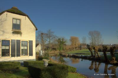 Buurtschap Den Dool, aan het riviertje de Noordeloos