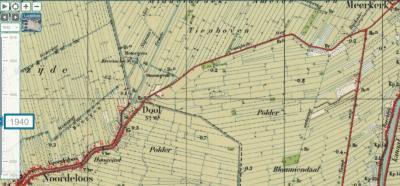 Rond 1935 ontdekt de Topografische Dienst haar vergissing; zij verplaatst de plaatsnaam iets naar onderen en voegt de aanduiding 'Ns' (= Noordeloos) toe, omdat de buurtschap ook deels onder Noordeloos viel.