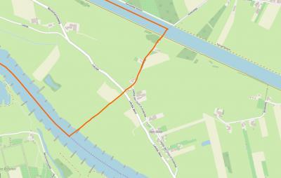 Buurtschap Den Oord heeft altijd al grotendeels onder de gem. Wijk bij Duurstede gevallen (O gedeelte). De grens met de gem. Houten is de oranje lijn langs de Hoeksedijk. Het deel W daarvan viel vanouds onder 't Goy, tegenwoordig onder Schalkwijk.