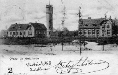 Dennenoord, ansichtkaart uit 1902, met o.a. de rijksmonumentale watertoren uit 1896, die tegenwoordig is herbestemd tot zendmast