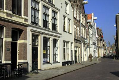 Deventer, we kijken de Graven in, een gedempte stadsgracht (© Jan Dijkstra, Houten)
