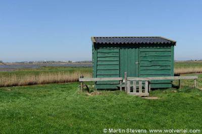 De vogelkijkhut in de buurtschap Dijkmanshuizen