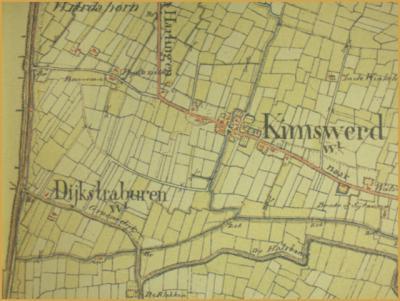 Op een kaart uit de Grote Historische Provincie Atlas Friesland uit  1853-1856, heet  Dijksterburen nog Dijkstraburen.