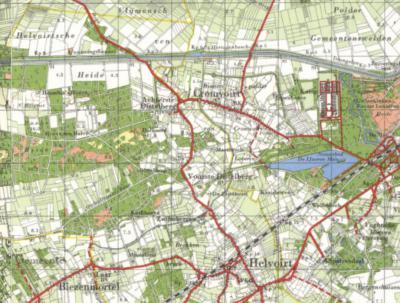 Tot halverwege de jaren zestig is er nog sprake van de plaatsnamen Achterste Distelberg voor het N deel en Voorste Distelberg voor het Z deel (de voorvoegsels gezien vanuit Helvoirt). Sindsdien is alleen nog sprake van de plaatsnaam Distelberg.