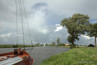 De Wargaastervaart bij Domwier.