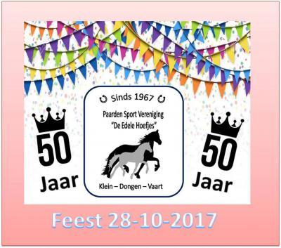 Paarden Sport Vereniging De Edele Hoefjes is 'iets' jonger: deze vereniging heeft in 2017 het 50-jarig bestaan gevierd.