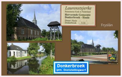 Donkerbroek, collage van dorpsgezichten (© Jan Dijkstra, Houten)