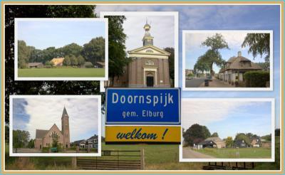 Doornspijk, collage van dorpsgezichten (© Jan Dijkstra, Houten)